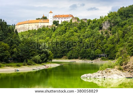 Bitov Castle with Vranovska Dam, Czech Republic