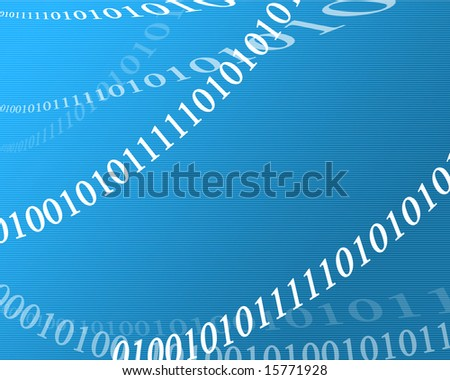 bits and bytes on a blue background