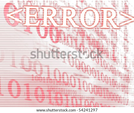 bits and bytes on a soft red background - stock photo