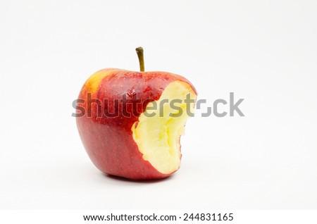 bitten apple - stock photo