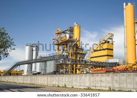Bitumastic macadam mixing modular plant - stock photo