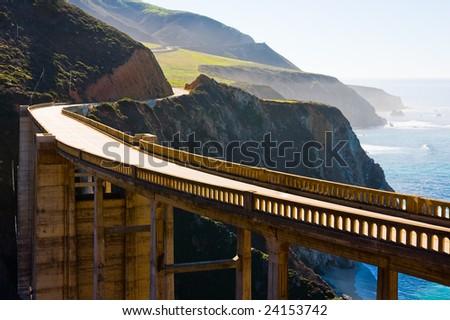 Bixby Bridge in Big Sur California - stock photo