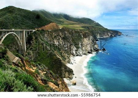 Bixby Bridge on California's Big Sur