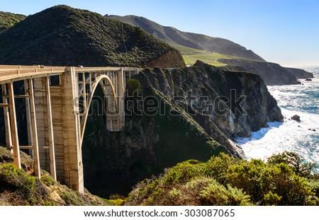 Bixby Creek Bridge, Big Sur - stock photo