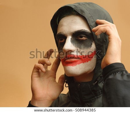 Bizarre Halloween theme: Psychotic young man plots dastardly deed