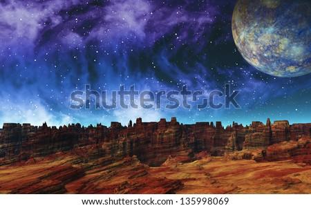 Bizarre Rocks - stock photo