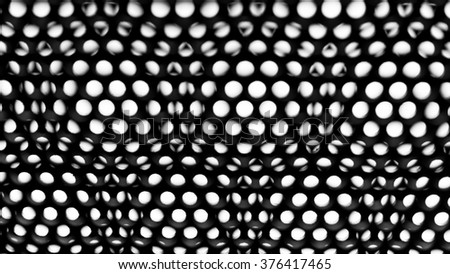 black abstract background with metal dots, abstract metal background