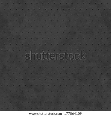 Black abstract background with subtle delicate grunge texture, polka dot seamless pattern, monochrome embossed surface in shades of dark gray color - stock photo