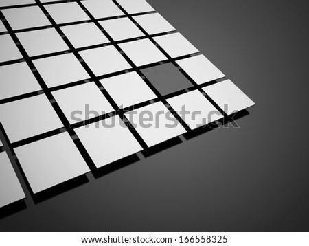 Black abstract cubes concept background rendered