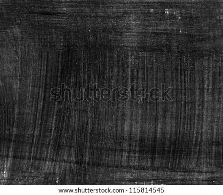 Black abstract hand painted background texture - stock photo