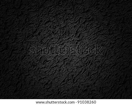 Black abstract plastic texture - stock photo