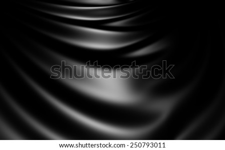 Black Abstract Shiny Cloth - stock photo