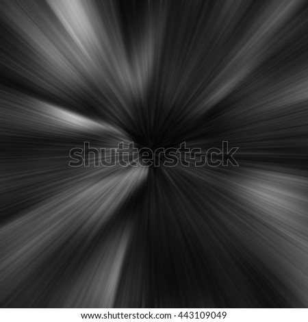 Black Abstract Zoom Motion background - stock photo