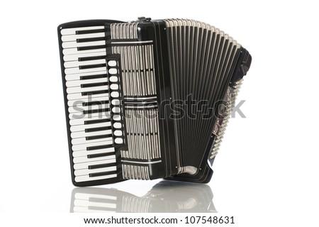 Black accordeon - stock photo