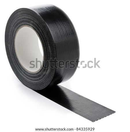 black adhesive tape  on light background.