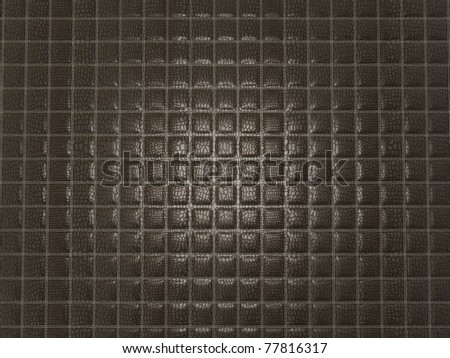 Black Alligator stitched skin with square shapes. Useful as texture or background - stock photo