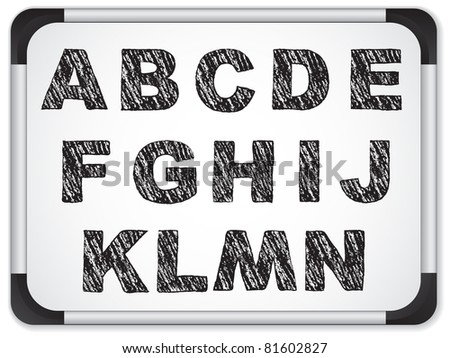 Set circuit board style letters stock vector 124095712 for Whiteboard letter stencils