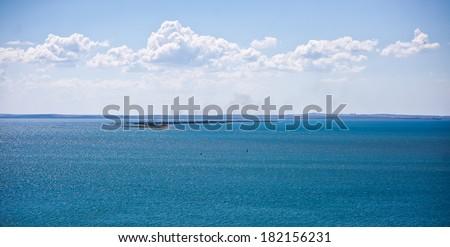 Black and Azov Sea in Crimea - stock photo