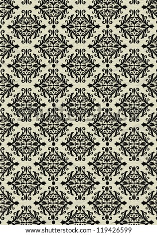 Black and beige beautiful vintage background pattern - stock photo