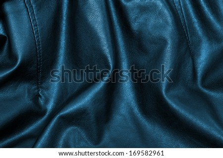 black and blue leather background - stock photo