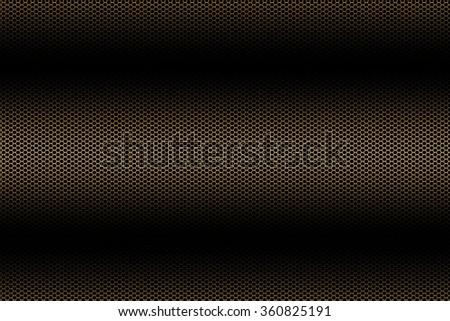 black and gold curve metallic mesh background texture. - stock photo