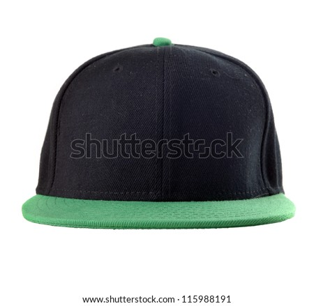 Black and green baseball cap - stock photo