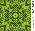 Black and Green Mandala Star - stock photo