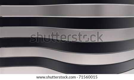 Black and grey glossy strips on a background