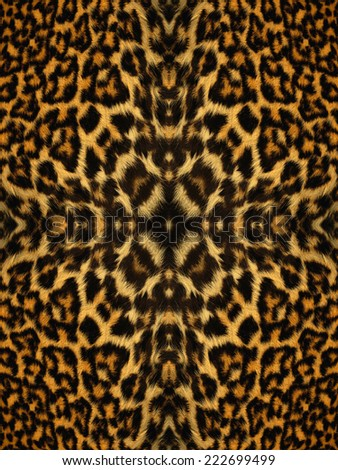 Black and orange kaleidoscope fur pattern - stock photo