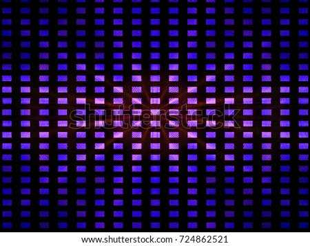 Black and purple background. Circle wave and geometric pattern
