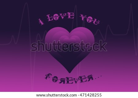 black and purple love heart background