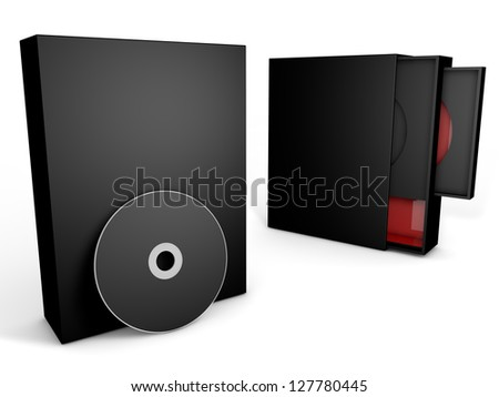 black and red cd case box