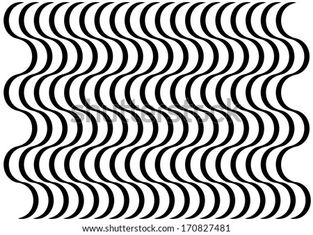 Black and White Abstract Curve Pattern