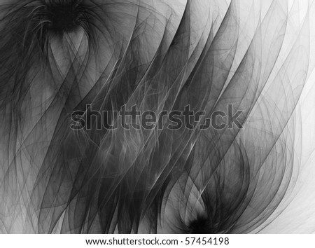 Black and white abstract digital fractal background