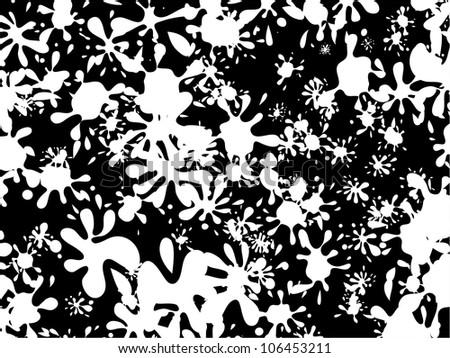 Black And White Abstract Graffiti Wallpaper Design