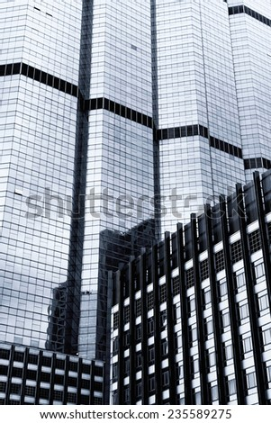 Black and white Abstract of Modern building / Close up of Modern building