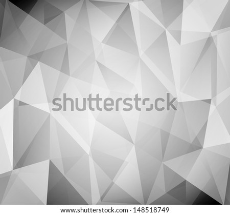 Black and white abstract polygonal background  - stock photo