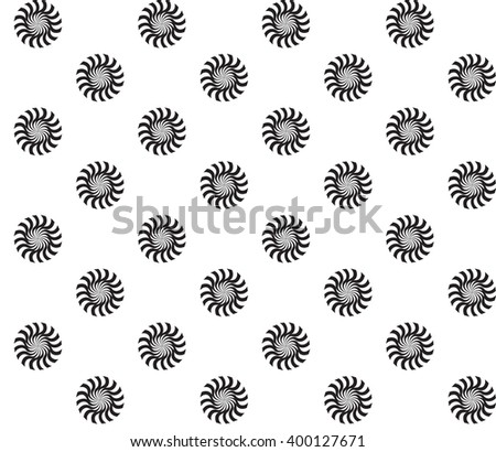 Black and White Abstract Psychedelic Art Background. Seamless Pattern. Illustration.  - stock photo