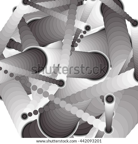 Black and white abstract science background