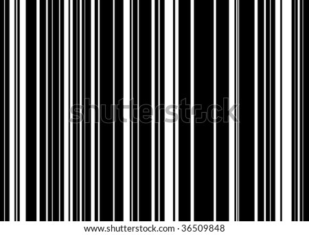 Black and white abstract striped background with barcode effect