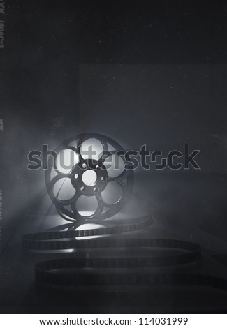 Black-and-white background for cinematic themes - stock photo
