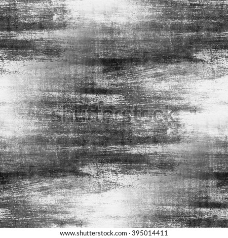 black and white background grunge wall texture seamless pattern - stock photo
