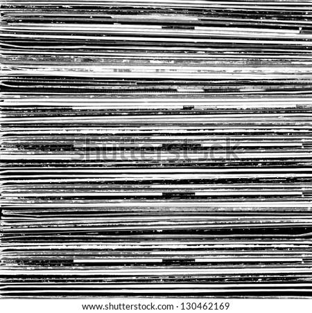 Black and white background of vinyls - stock photo