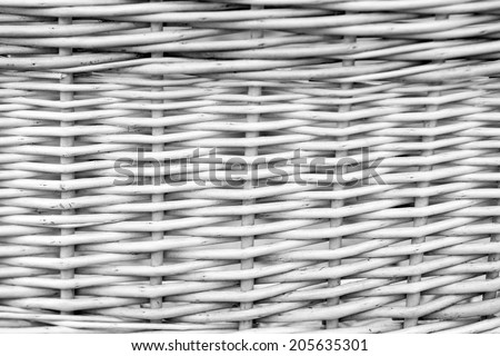 Black and white basket texture from natural wicker