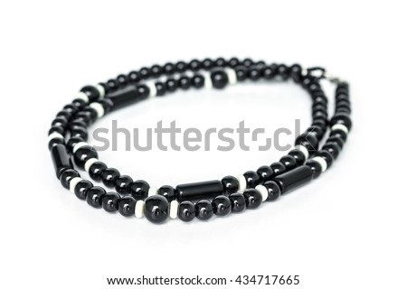 black and white beads hobby art abstract background