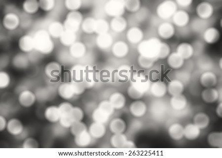 Black and white Bokeh background. Element of design. - stock photo