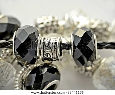 Black and white bracelet - stock photo