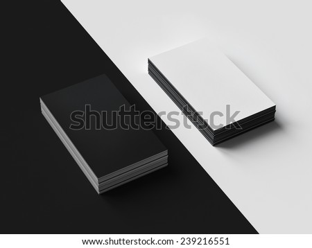 Black and White Business cards Mockup  - stock photo