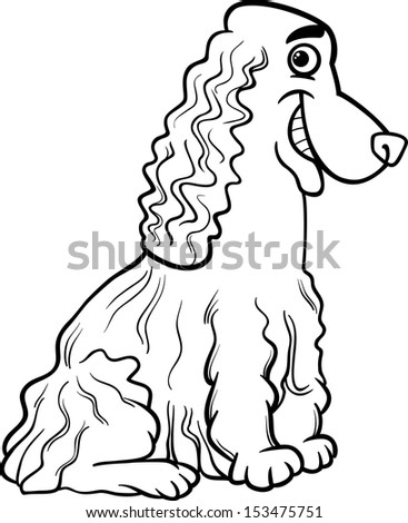childrens coloring pages springer spaniel | Stock Images similar to ID 45865855 - cartoon vector ...