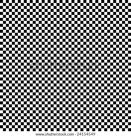 Black and white checkerboard background which will tile seamlessly - stock photo